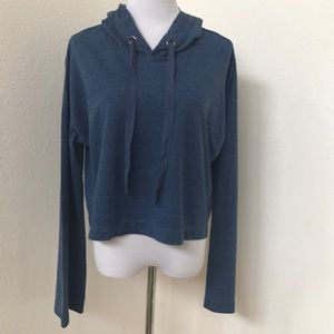 Anthropologie Cloth & Stone Cropped Hoodie NWOT